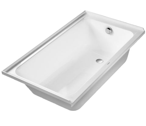 D-Code Series Rectangular Acrylic Drop-In with Integrated tile flange, Right Drain placement, Duravit, 700405