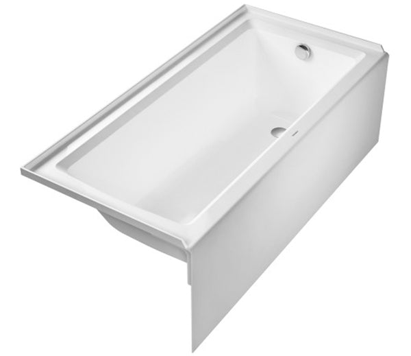 "Architec Bathtub with panel height 19 1/4"" with Integrated Panel and flange, Right Drain Placement, Built In Acrylic Bathtubs, Duravit, 700407"