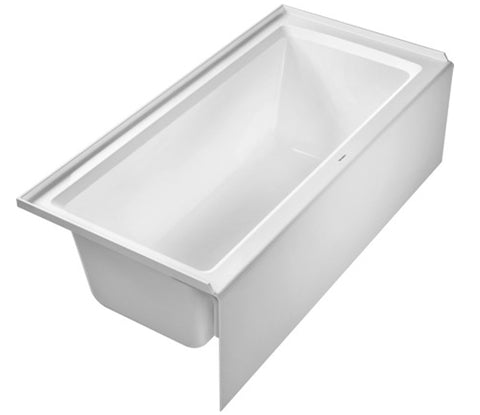 "Architec Series Rectangular Drop-In or for Panel Bathtub with panel height 19 1/4"", Duravit, 700408 - Showroom Sinks"