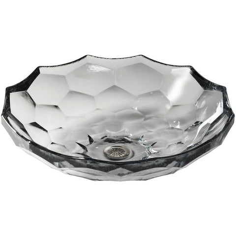 "Kohler Briolette 17"" Vessel Faceted Glass Bathroom Sink - K-2373-B11"