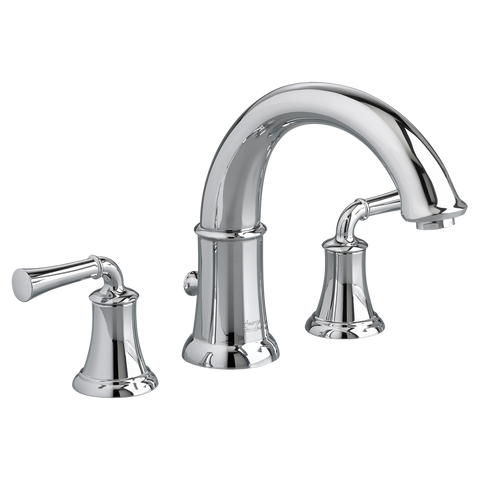 "American Standard Portsmouth 7-7/8"" Deck-Mounted Tub Filler With Hand Shower, 7420.901 - Showroom Sinks"