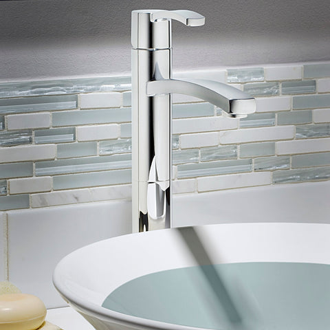 American Standard Berwick Monoblock Bathroom Vessel Faucet, 7430.152 - Showroom Sinks