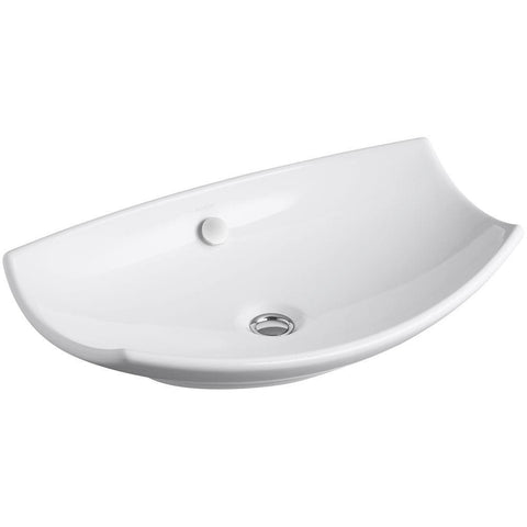 "Kohler Leaf 24"" Vessel Bathroom Sink - White K-2530-0"