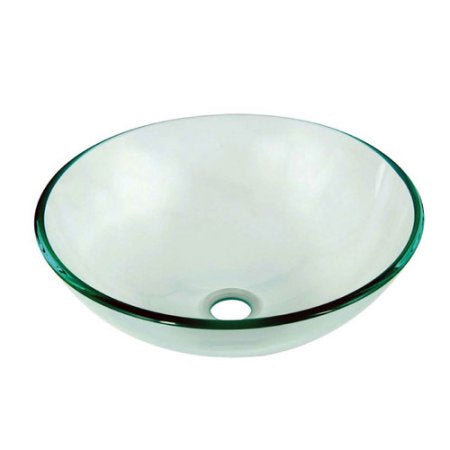 Dawn Tempered Glass Vessel Bowl, Clear, GVB84007