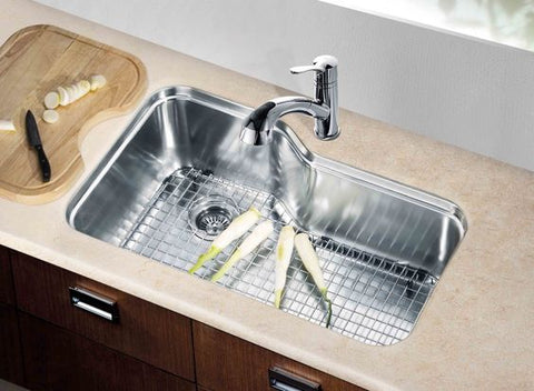 "Dawn 32-3/4"" Stainless Steel Undermount Kitchen Sink, Single Bowl, DSU3118"