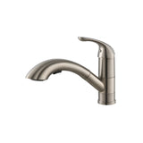 Allora Single Handle Pull Out Kitchen Faucet - Brushed Nickel A-700-BN