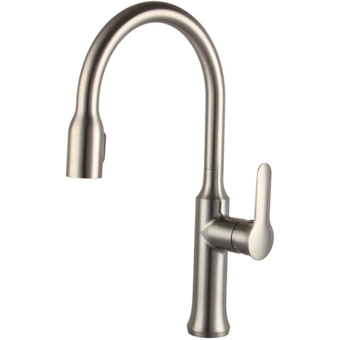 Allora Single Handle Pull Down Kitchen Faucet - Brushed Nickel A-715-BN - Showroom Sinks