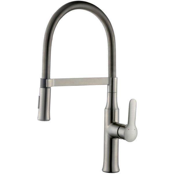 Allora Magnetic Single Handle Kitchen Faucet - Brushed Nickel A-730-BN - Showroom Sinks