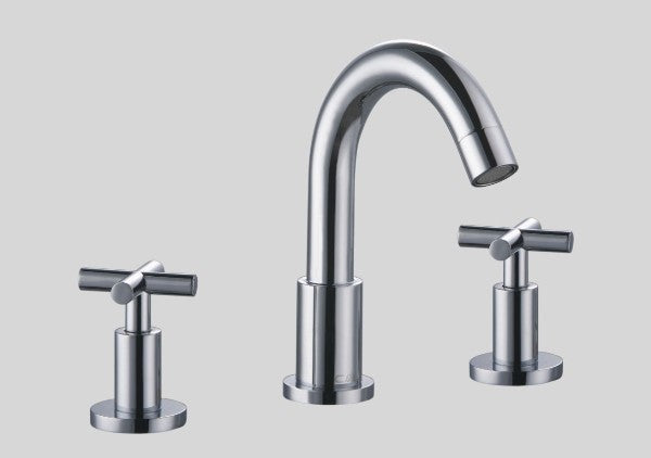 "Dawn 9"" 3 Hole Widespread Lavatory Faucet with Cross Handles"