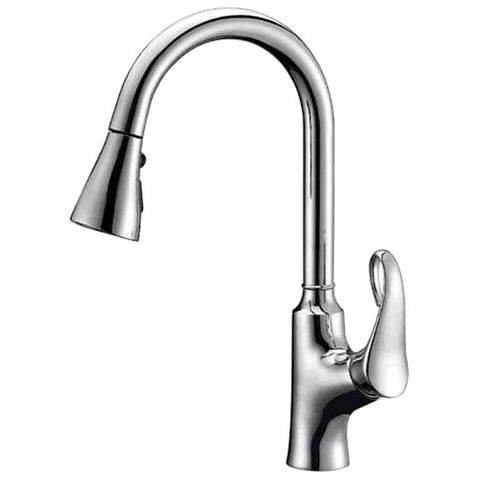 Dawn Single-Lever Pull-Out Spray Kitchen Faucet - Chrome AB06 3292C