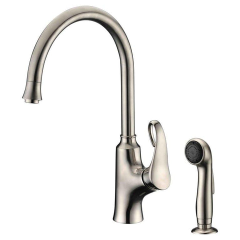 Dawn Single-Lever Kitchen Faucet With Side-Spray - Brushed Nickel AB06 3296BN