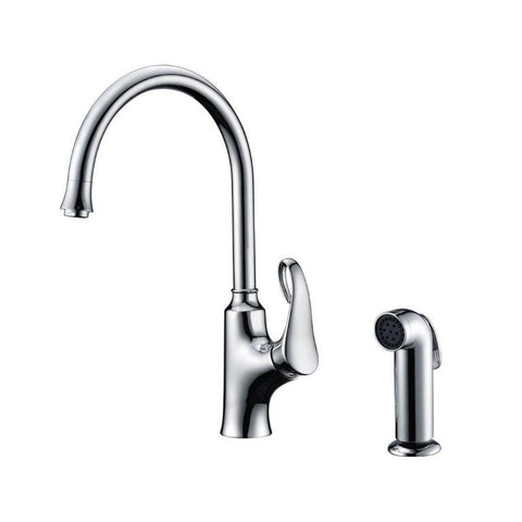 Dawn Single-Lever Kitchen Faucet With Side-Spray - Chrome AB06 3296C