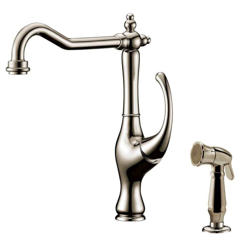 Dawn Single-Lever Kitchen Faucet With Side-Spray - Brushed Nickel AB08 3155BN