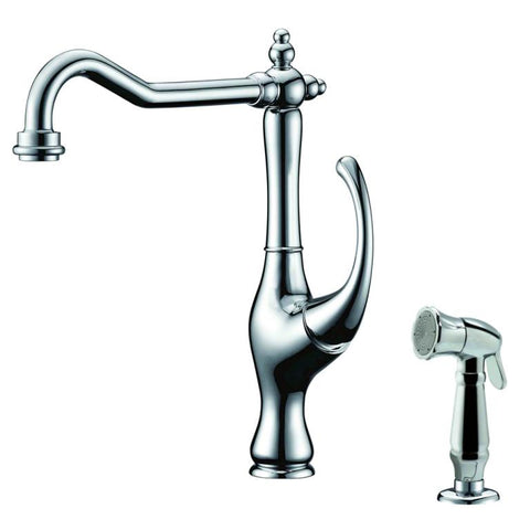 Dawn Single-Lever Kitchen Faucet with Side-Spray - Chrome AB08 3155C