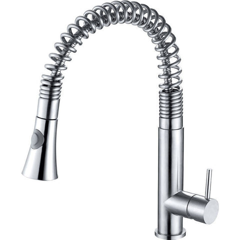 ALFI brand Stainless Steel Kitchen Faucet with Pull Down Shower Spray - Brushed Stainless Steel AB2032
