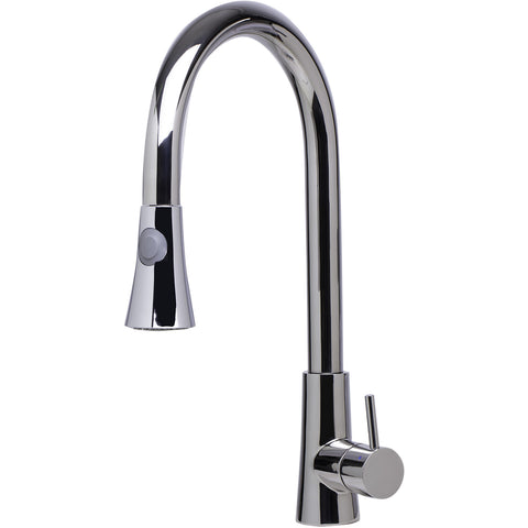 ALFI brand Solid Stainless Steel Two Mode Pull Down Kitchen Faucet - Stainless Steel AB2034 - Showroom Sinks