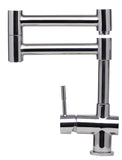 ALFI brand Modern Solid Stainless Steel Retractable Kitchen Faucet - Stainless Steel AB2038 - Showroom Sinks