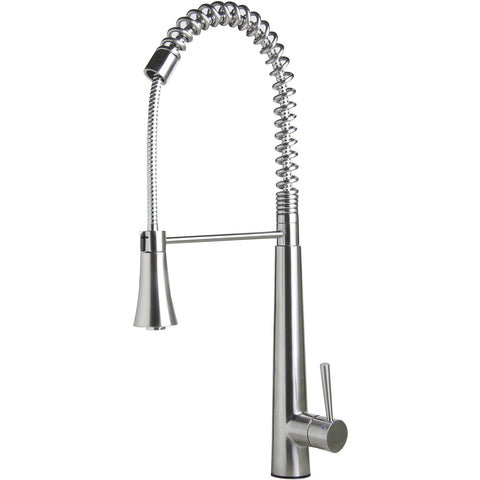 ALFI brand Solid Stainless Steel Commercial Spring Kitchen Faucet - Stainless Steel AB2039S - Showroom Sinks