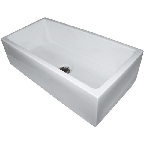 "Alfi Brand 36"" Single Bowl Fireclay Farmhouse Kitchen Sink - White AB3618HS-W"