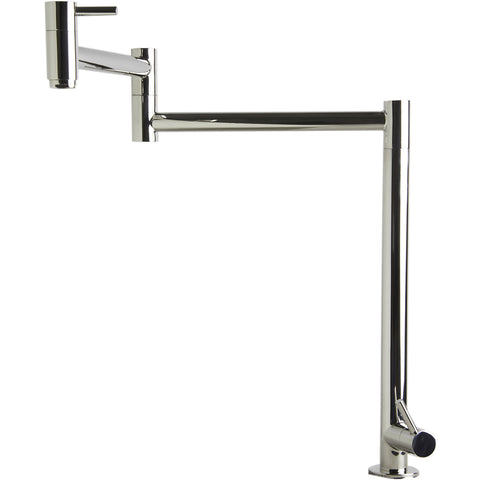 ALFI brand Stainless Steel Retractable Pot Filler Faucet - Stainless Steel AB5018 - Showroom Sinks