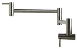 ALFI brand Stainless Steel Retractable Pot Filler Faucet - Stainless Steel AB5019 - Showroom Sinks