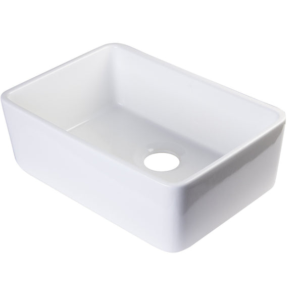 Alfi Brand 23'' Single Bowl Farmhouse Kitchen Sink - White AB503-W