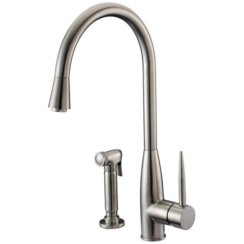 Dawn Single-Lever Kitchen Faucet With Side-Spray - Brushed Nickel AB50 3178BN