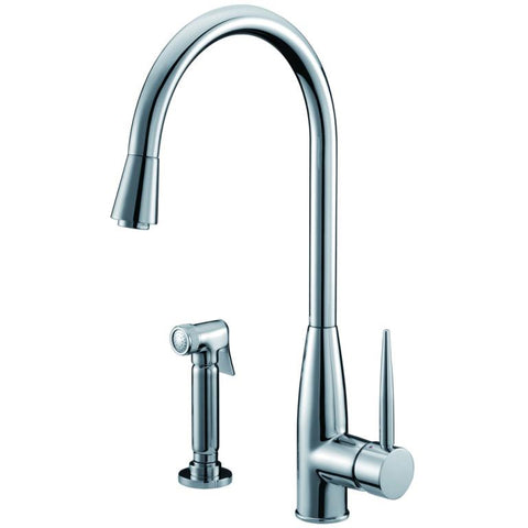 Dawn Single-Lever Kitchen Faucet With Side-Spray - Chrome AB50 3178C