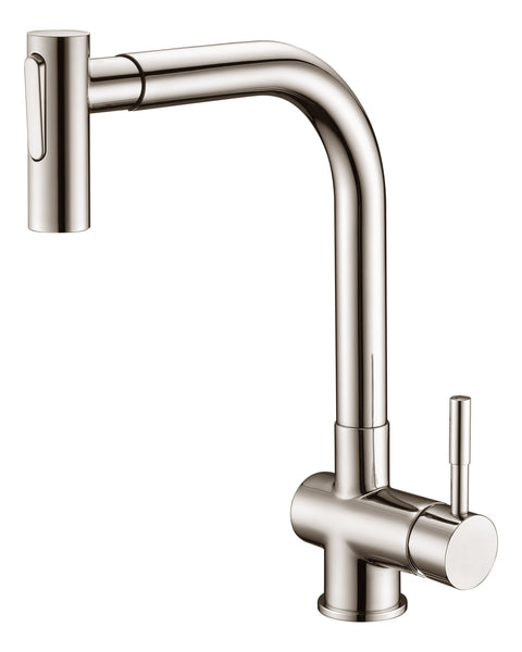 Dawn Single-Lever Pull-Out Spray Sink Mixer - Brushed Nickel AB50 3670BN