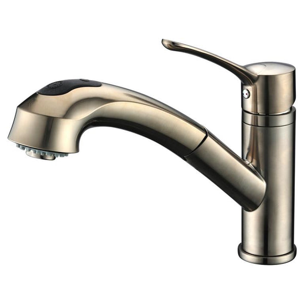 Dawn Single-Lever Pull-Out Spray Kitchen Faucet - Brushed Nickel AB50 3711BN
