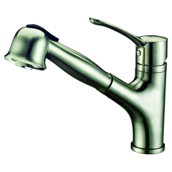 Dawn Single-Lever Pull-Out Spray Kitchen Faucet - Brushed Nickel AB50 3712BN