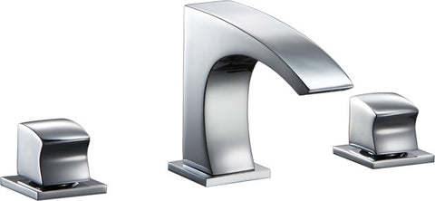 "Dawn 5-11/32"" Bathroom Faucet, 3 Hole Widespread Lavatory Faucet with Square Handles, AB77 1584C"