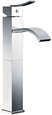 "Dawn 13-5/16"" Single-Lever Tall Square Lavatory Faucet with Sheetflow Spout, Solid Brass, AB78 1158"