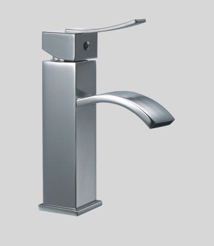 "Dawn 7"" Single-Lever Square Lavatory Faucet with Sheetflow Spout, Solid Brass, AB78 1258"