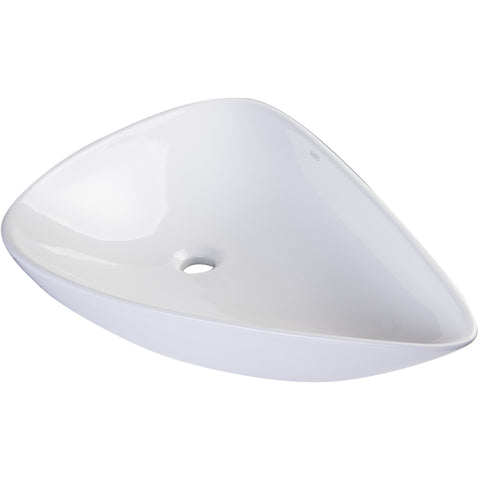 EAGO White Tear Drop Ceramic Above Mount Bath Sink BA138