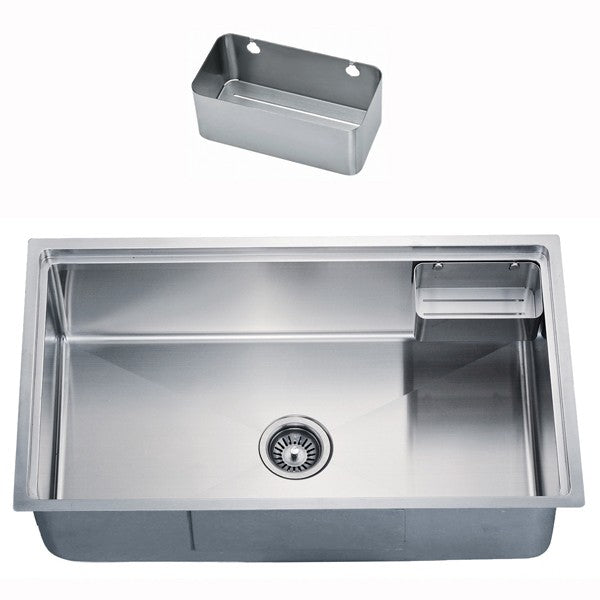 "Dawn 29-5/8"" Stainless Steel Undermount Small Radius Single Bowl, SRU281610"