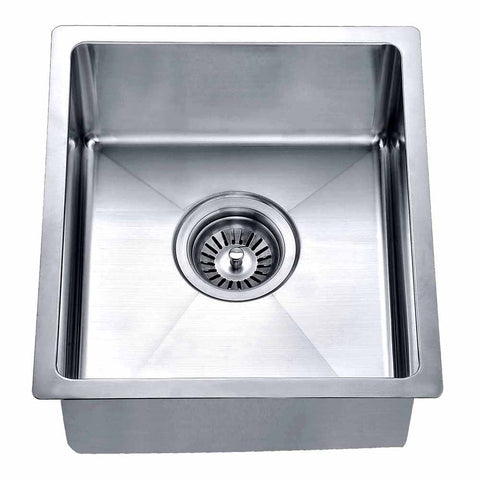 "Dawn 13-5/16"" Stainless Steel Bar Sink, Single Bowl, BS121307"