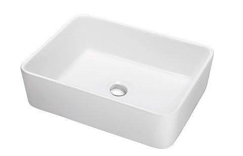 "Dawn Vessel Sink, 18-7/8"", Above-Counter Rectangle Ceramic Art Basin, CASN109009A"