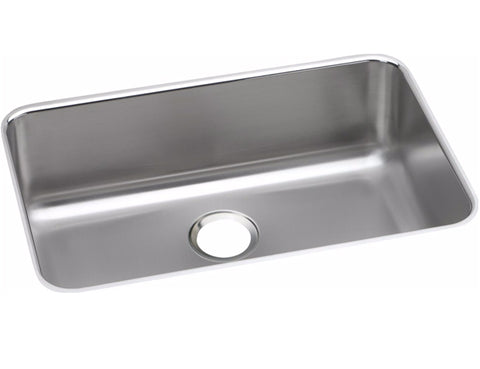 "Elkay Lustertone Stainless Steel 26-1/2"", Single Bowl, Undermount Sink, ELUH2416"