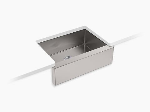"Kohler Strive K-5417-NA Self-Trimming 29-1/2"" x 21-1/4"" x 9-5/16"" Under-Mount Medium Single Bowl Kitchen Sink With Tall Apron"