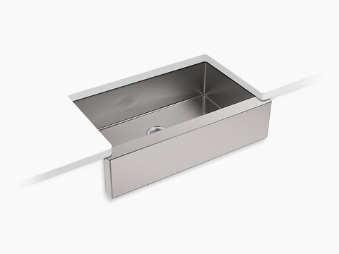 "Kohler Strive K-5415-NA Self-Trimming 35-1/2"" x 21-1/4"" x 9-5/16"" Under-Mount Large Single-Bowl Kitchen Sink With Tall Apron"