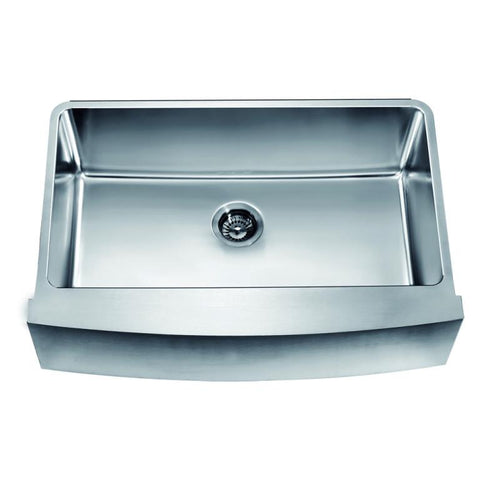 "Dawn 33"" Undermount Single Bowl with Curved Apron Front Sink DAF3320C"