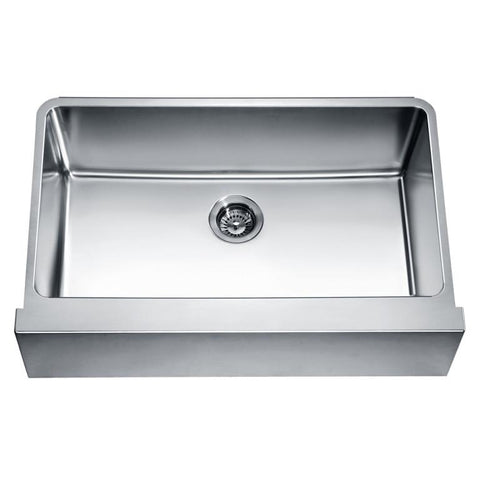 "Dawn 33"" Undermount Single Bowl with Straight Apron Front Sink DAF3320"
