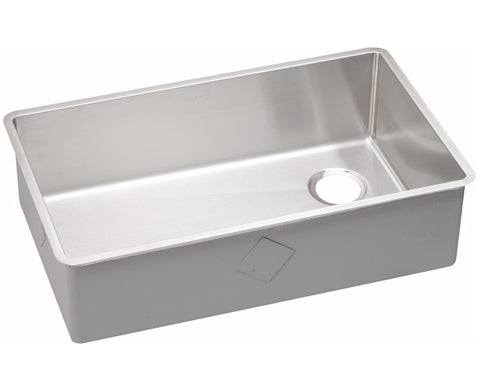 "Elkay Crosstown Stainless Steel 31-1/2"", Single Bowl Undermount Kitchen Sink, ECTRU30179R"
