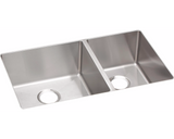 "Elkay Crosstown Stainless Steel 31-1/2"", 60/40 Double Bowl Undermount Sink"
