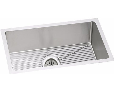 "Elkay Crosstown 16 Gauge Stainless Steel 30-1/2"", Single Bowl Undermount Sink Kit, EFRU2816DBG"
