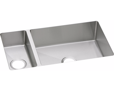 "Elkay Crosstown 16 Gauge Stainless Steel 32-1/4"" x 18-1/4"" x 8"", 30/70 Double Bowl Undermount Sink, EFRU3219"