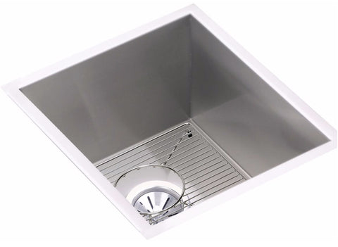 "Elkay Crosstown 16 Gauge Stainless Steel 16"", Single Bowl Undermount Sink Kit, EFU131610DBG"