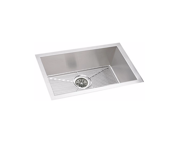 "Elkay Crosstown 16 Gauge Stainless Steel 23-1/2"", Zero Radius Corners, Single Bowl Undermount Sink Kit, EFU211510DBG"