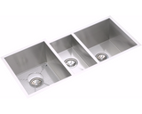 "Elkay Crosstown 16 Gauge Stainless Steel 40"" x 20-1/2"" x 10"", Triple Bowl Undermount Kitchen Sink Kit, EFU402010DBG"